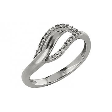 Кольцо с бриллиантами из белого золота 98653