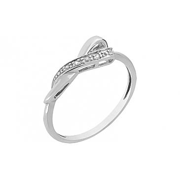 Кольцо с бриллиантами из белого золота 98655