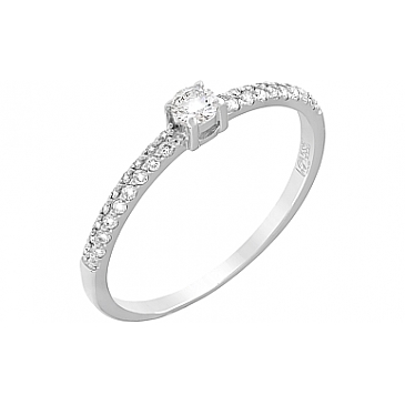 Кольцо с бриллиантами из белого золота 103477