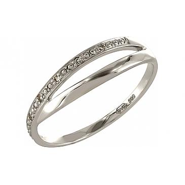 Кольцо с бриллиантами из белого золота 101945