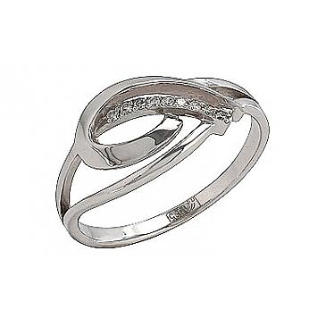 Кольцо с Бриллиантом из белого золота 74275