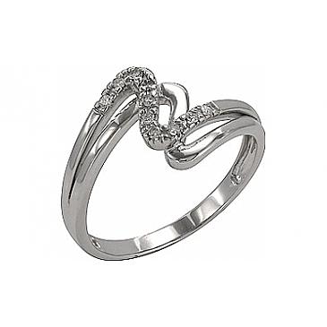 Кольцо с Бриллиантом из белого золота 74549