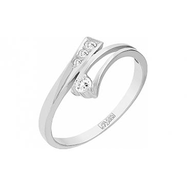 Кольцо с Бриллиантом из белого золота 75379