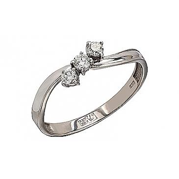 Кольцо с Бриллиантом из белого золота 77094