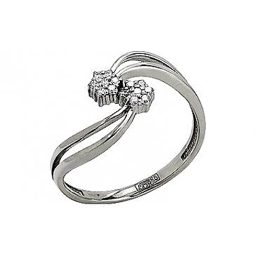 Кольцо с Бриллиантом из белого золота 77580