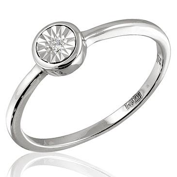 Кольцо с бриллиантами белое золото, арт: R05961 (Цена: 10080 руб)