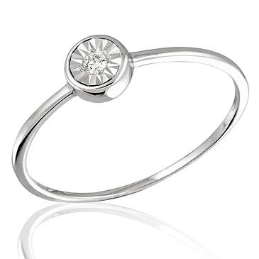 Кольцо с бриллиантами белое золото, арт: R05962 (Цена: 11360 руб)