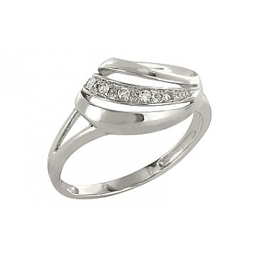 Кольцо с бриллиантом из белого золота 83640