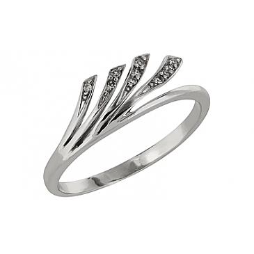 Кольцо с бриллиантом из белого золота 71323