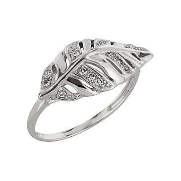 Кольцо с бриллиантом из белого золота 83643