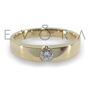 Кольцо с бриллиантом из белого золота Ко19-5Б-1б