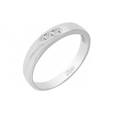 Кольцо с бриллиантом из белого золота 96744