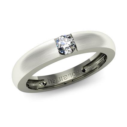 Обручальное кольцо с бриллиантами из белого золота Ко-02-Б1-0004