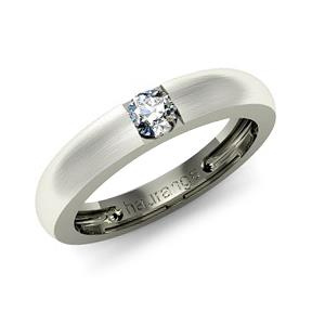 Обручальное кольцо с бриллиантами из белого золота Ко-02 -Б1-0004