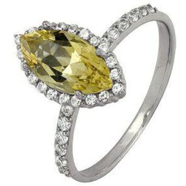 кольцо c цитрином из белого золота 1906101491