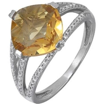 кольцо c цитрином из белого золота 1906101665