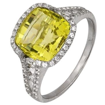 кольцо c цитрином из белого золота 1906101642
