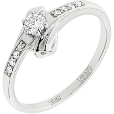 кольцо c фианитами из белого золота 13023808