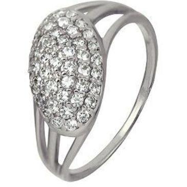 кольцо c фианитами из белого золота 1206101644Л