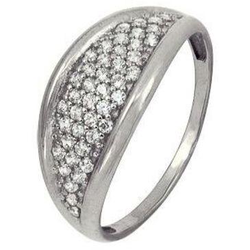 кольцо c фианитами из белого золота 1206101649Л-1