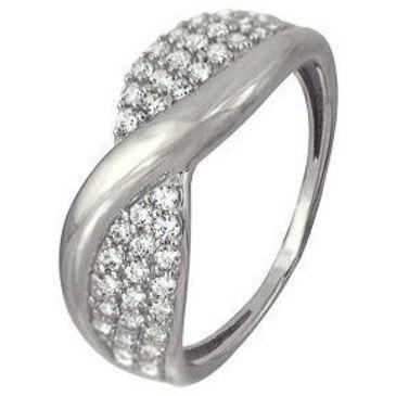 кольцо c фианитами из белого золота 1206101733Л