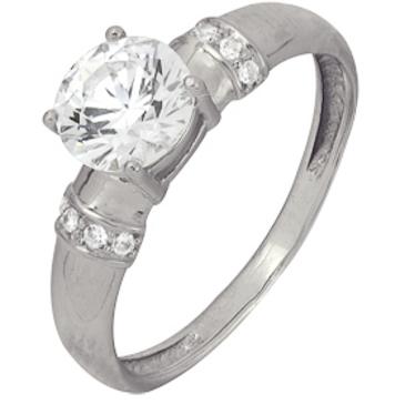 кольцо c фианитами из белого золота 1206101952