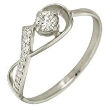 кольцо c фианитами из белого золота 1206101092