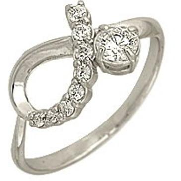 кольцо c фианитами из белого золота 1206101093