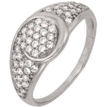 кольцо c фианитами из белого золота 1206101732Л