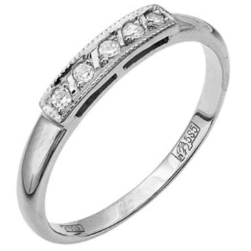 кольцо c фианитами из белого золота 1302243