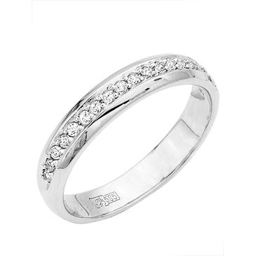 кольцо c фианитами из белого золота 13023025
