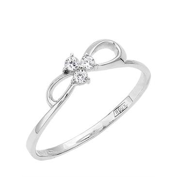 кольцо c фианитами из белого золота 13027183