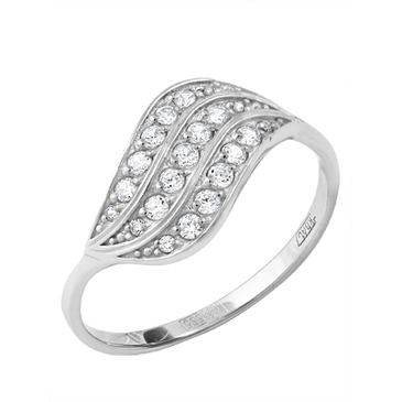 кольцо c фианитами из белого золота 13027254