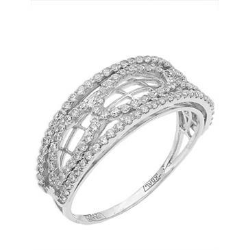 кольцо c фианитами из белого золота 13027318