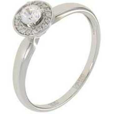 кольцо c фианитами из белого золота 13028545