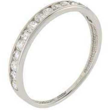 кольцо c фианитами из белого золота 13028077