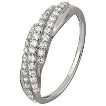 кольцо c фианитами из белого золота 1206101726Л-1