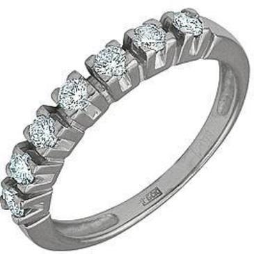 кольцо c фианитами из белого золота 13021258
