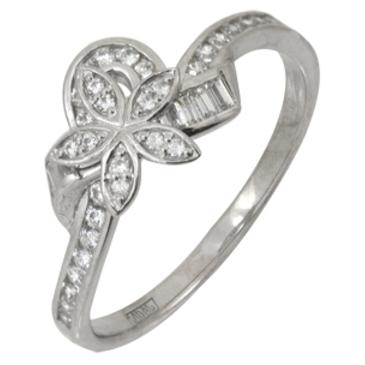 кольцо c фианитами из белого золота 13023293