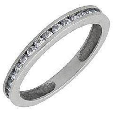 кольцо c фианитами из белого золота 1302754
