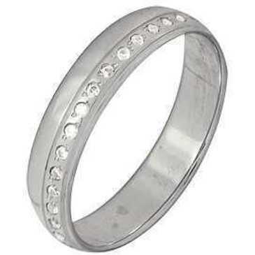 кольцо c фианитами из белого золота 1207101298