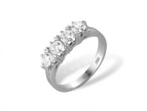 кольцо c фианитами из белого золота 72000050