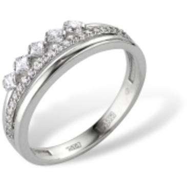 кольцо c фианитами из белого золота 72000056