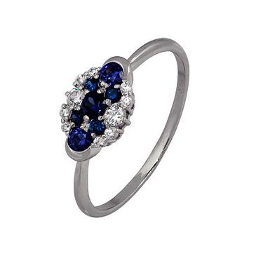 кольцо c фианитами из белого золота 1206102585