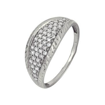 кольцо c фианитами из белого золота 1207901649л-1