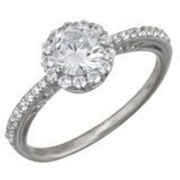 кольцо c фианитами из белого золота 1206101500