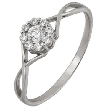 кольцо c фианитами из белого золота 1206101553