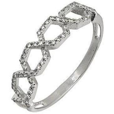 кольцо c фианитами из белого золота 1206101617