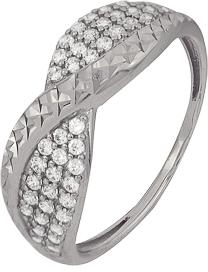 кольцо c фианитами из белого золота 1207901733Л