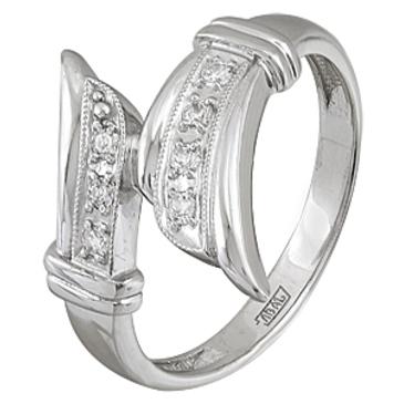кольцо c фианитами из белого золота 13028030